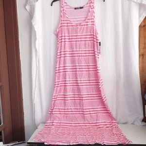 Ralph Lauren Long Tank Striped Nightgown M L